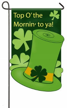 Top o' the Mornin Shamrock Garden Flag