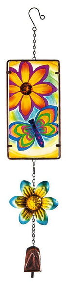 Vibrant Dragonfly Glow in the Dark Bell Chime