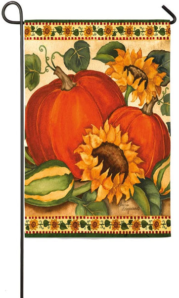 Harvest Pumpkins & Sunflowers Garden Flag
