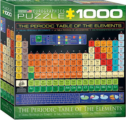 Periodic Table of the Elements Puzzle - 1000 Pieces