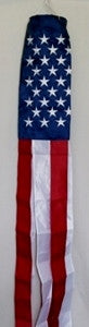 60 Inch Embroidered Stars and Stripes Windsock