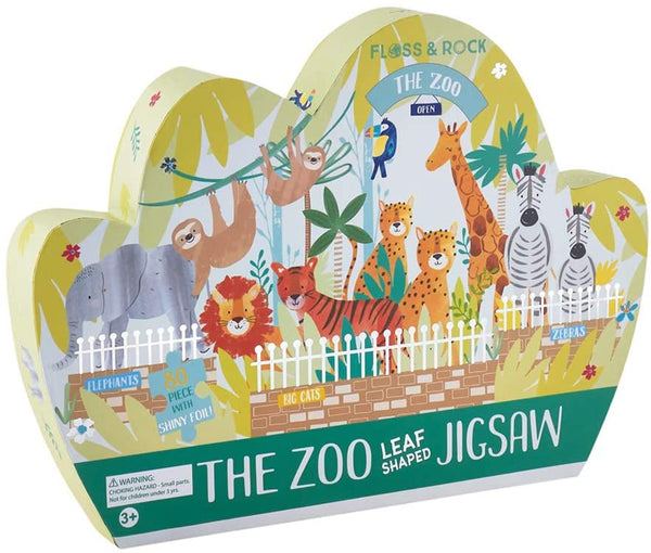 """The Zoo"" Leaf Shaped 80 Piece Puzzle"
