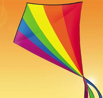 Giant Rainbow Diamond Kite with Line Included
