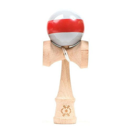 Tribute Kendama - Gray with Red Stripe