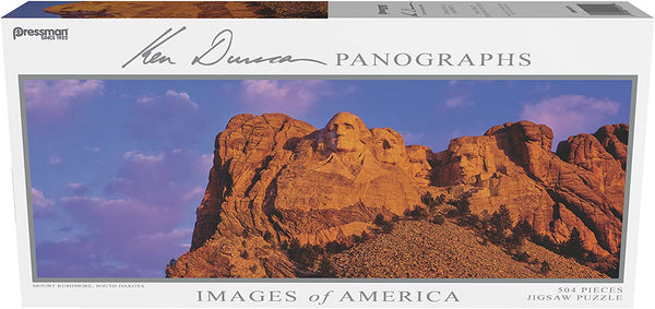 Images of America Panoramic Puzzle - Mount Rushmore