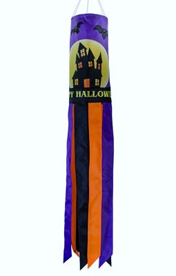 "40 Inch ""Happy Halloween"" Fright Night Windsock"