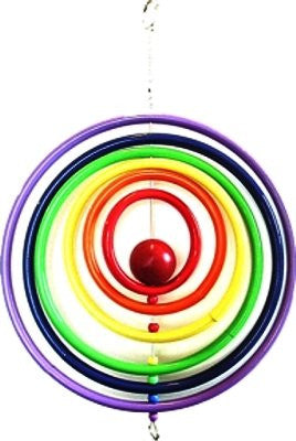 Rainbow Circle Mobile Wind Sculpture