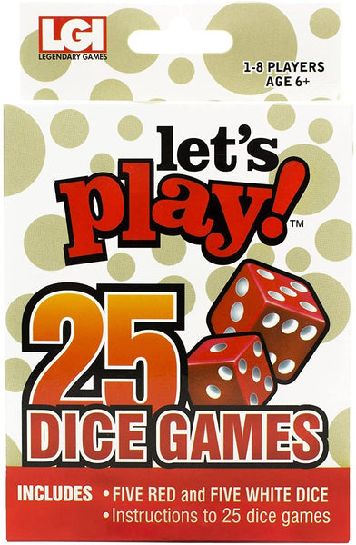 """Let's Play"" 25 Dice Games"