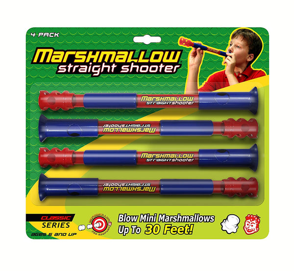 Marshmallow Fun  Classic Marshmallow Straight Shooter - 4 Pack