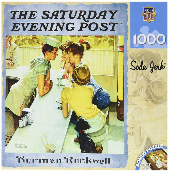 Saturday Evening Post Soda Jerk Jigsaw Puzzle, Art by Norman Rockwell
