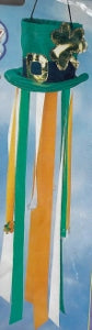 "3D Leprechaun Hat ""Breezies"" Windsock"