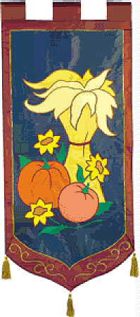 Elegance Collection Fall Harvest Flag
