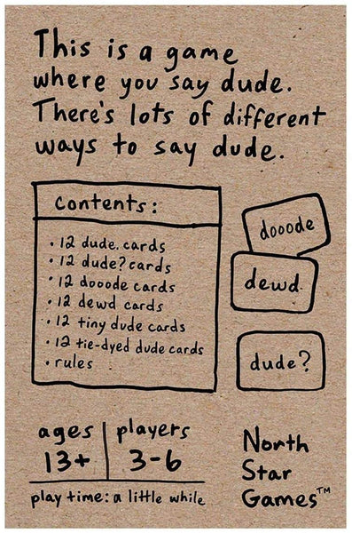 """DUDE"" Card Game"