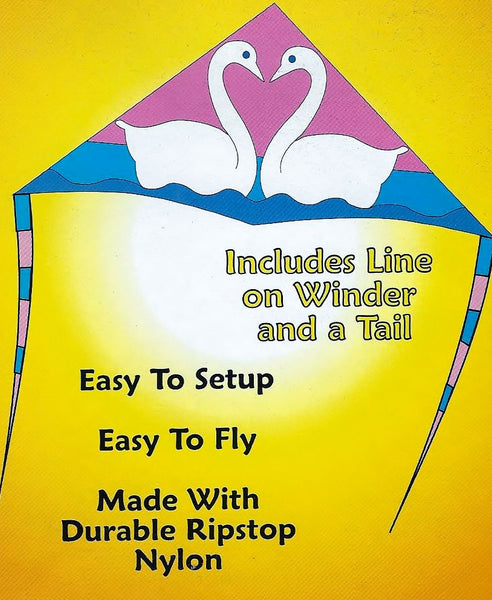 "6 Foot ""Swan Lake"" Delta Kite with Flying Line"