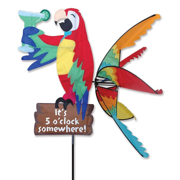"Premier Kites ""It's 5 O'Clock Somewhere"" Island Parrot Garden Spinner"