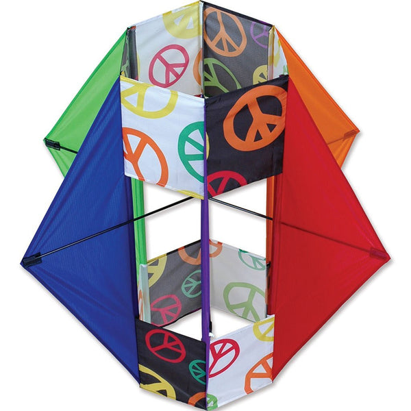Six Wing Box Kite with Line Included - Peace