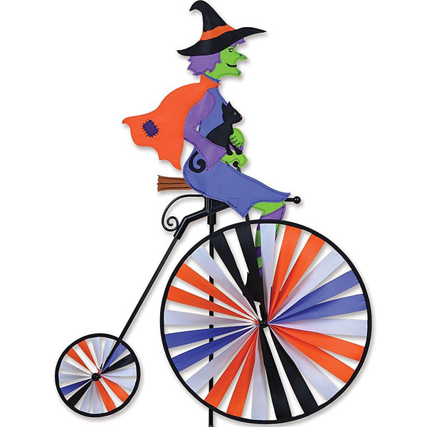 High Wheel Bike Garden Spinner - Halloween Witch