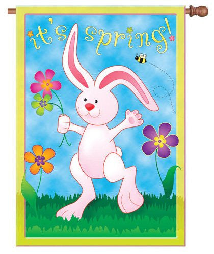 """It's Spring"" Bunny Flag"