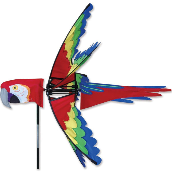 27 Inch Scarlet Macaw Wind Spinner