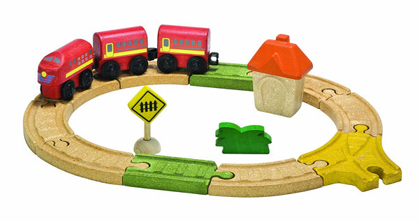 PlanToys - City Road and Rail Oval Railway Set