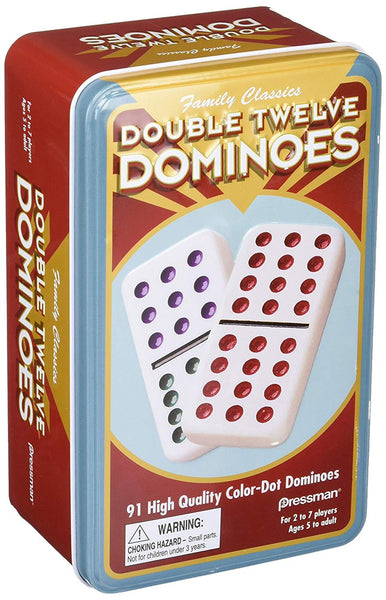 Double 12 Dominoes with Mexican Train Starter Piece