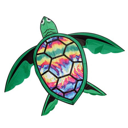 3D Tie-Dye Turtle Kite with Line Included