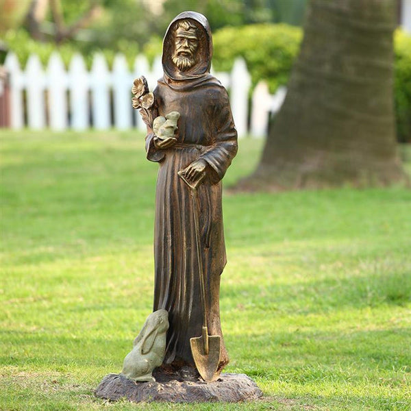 SPI Home St. Francis & Friends Garden Statue