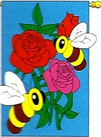 Flowers & Bees Flag
