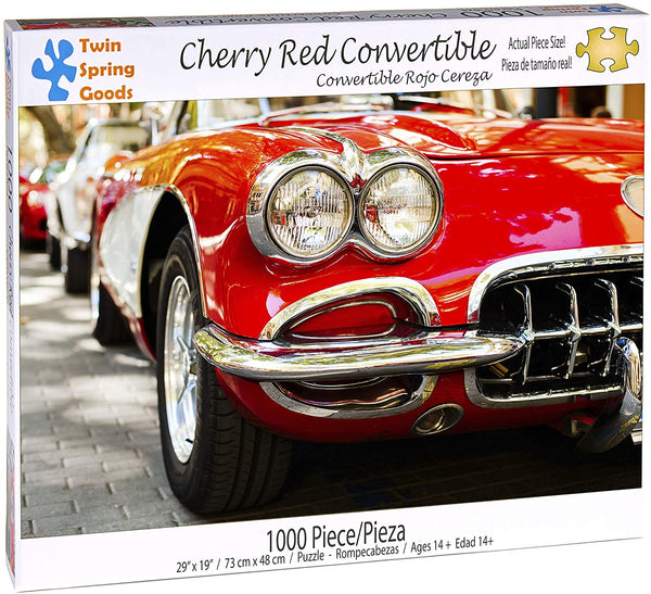 """Cherry Red Convertible"" 1000 Piece Puzzle"