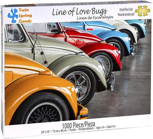 """Line of Love Bugs"" 1000 Piece Puzzle"