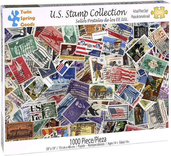 """U.S. Stamp Collection"" 1000 Piece Puzzle"