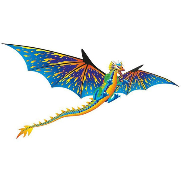3D Supersized Blue & Yellow Dragon Kite with Line Included