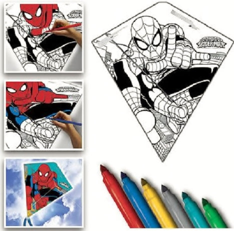 Color Me 26-inches Tyvek Diamond Kite: Spider-man with Line Included