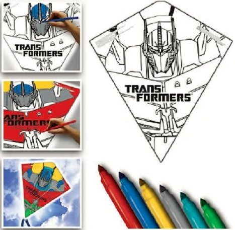 Color Me Kite 26 Inches Tyvek Diamond Kite - Transformers with Line Included