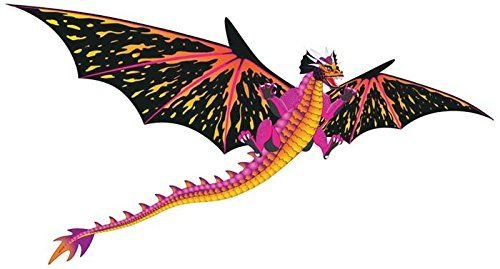 3D Fantasy Fliers Dragon Kite with Line & Handle