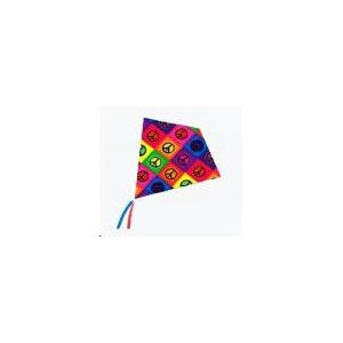 "25 Inch ""Peace"" ColorMax Nylon Diamond Kite with Line & Winder"