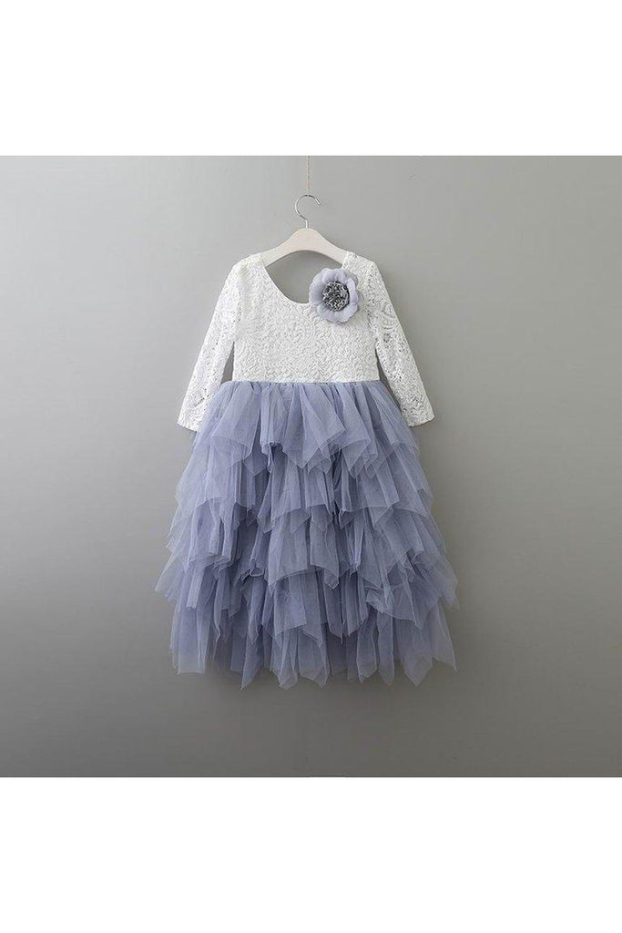 Autumn/Long Sleeve/Gray Tulle