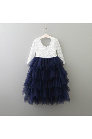 Autumn/Long Sleeve/Navy Tulle