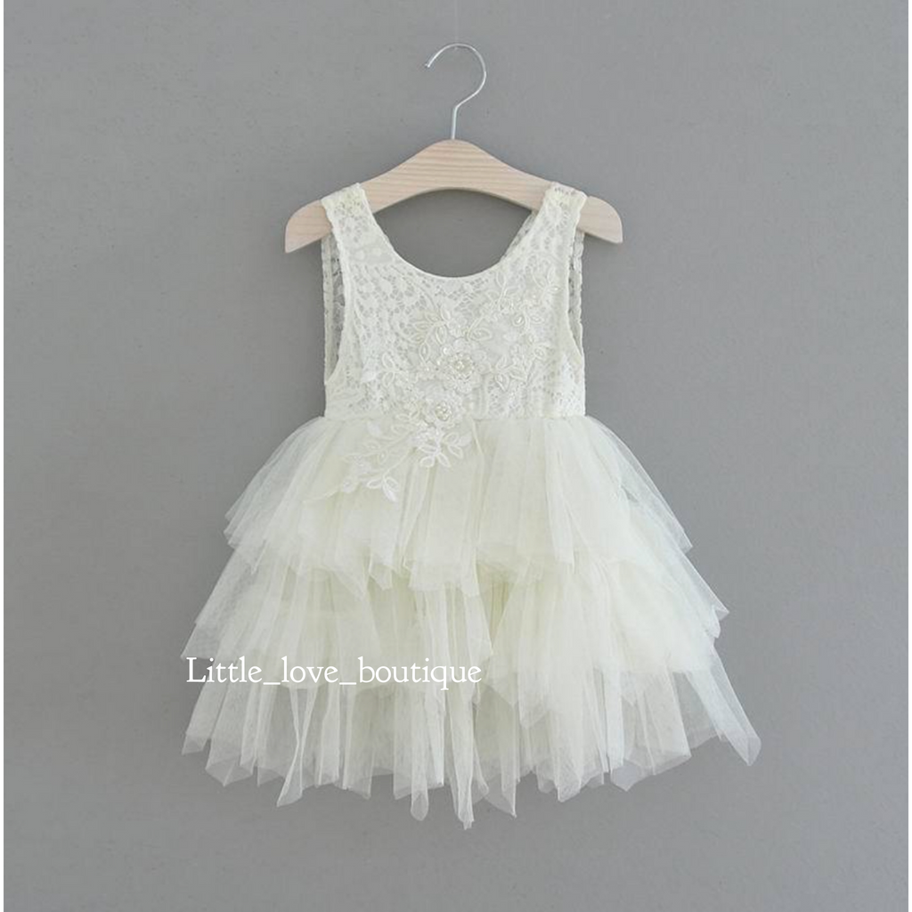 "The ""Camila"" Dress - Ivory Tulle"