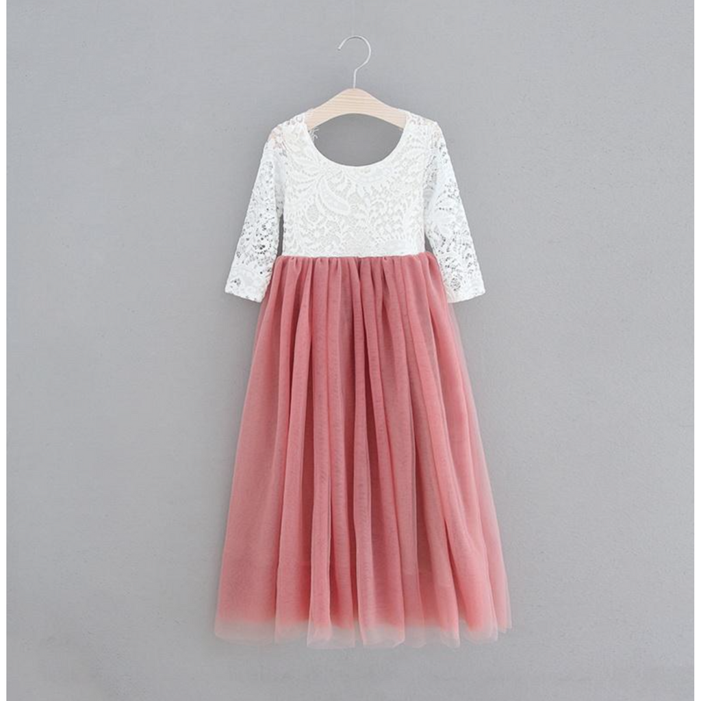 "The ""Alannah"" Lace Dress - Dusty Rose"