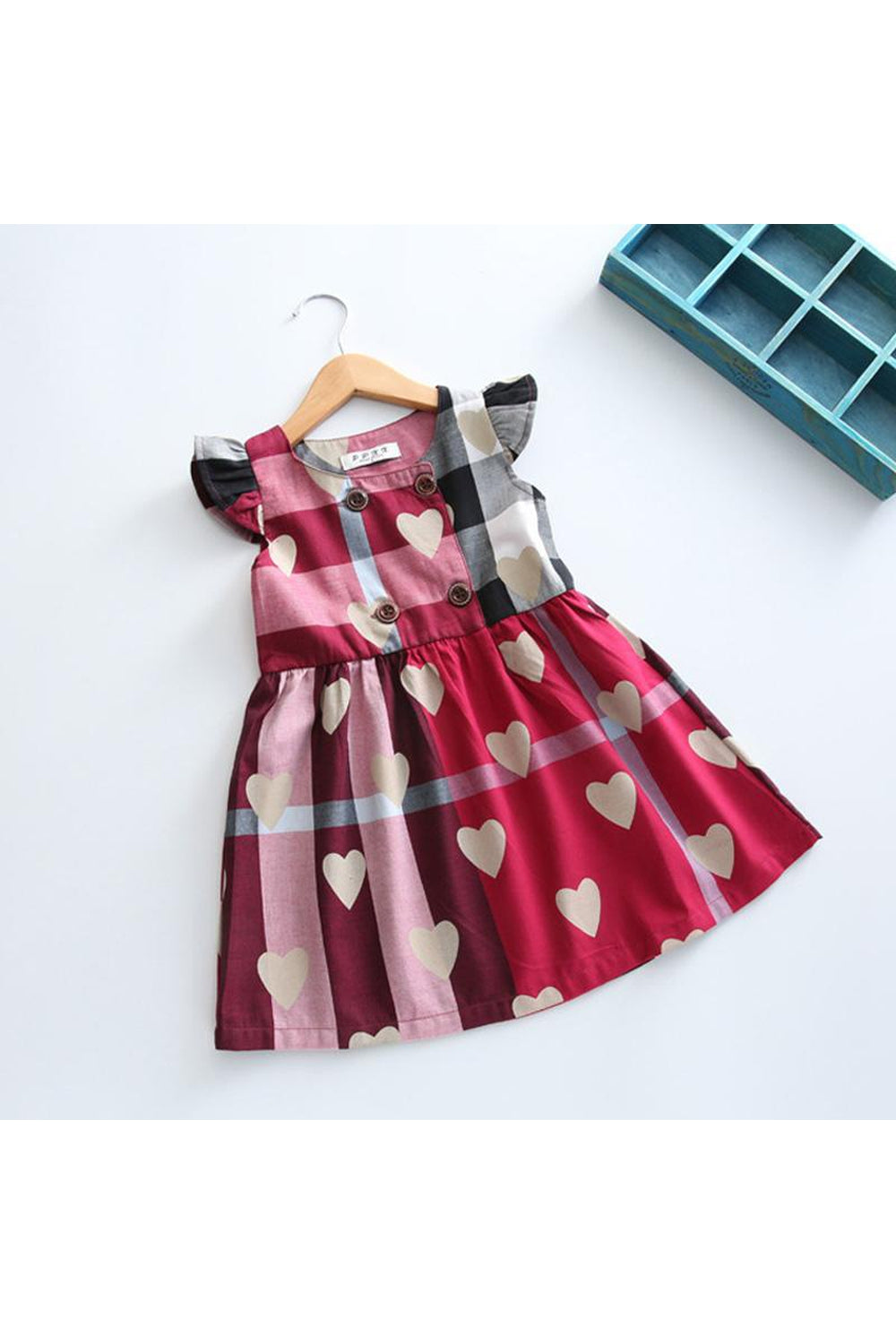 Heart Plaid Dress