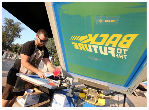 Back to the Future Live Screen Printing