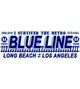 Blue Line Bumper Sticker