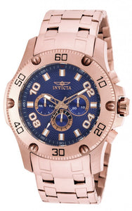 Invicta Men's Pro Diver Chronograph Rose Gold Plated Stainless Steel Watch 19229