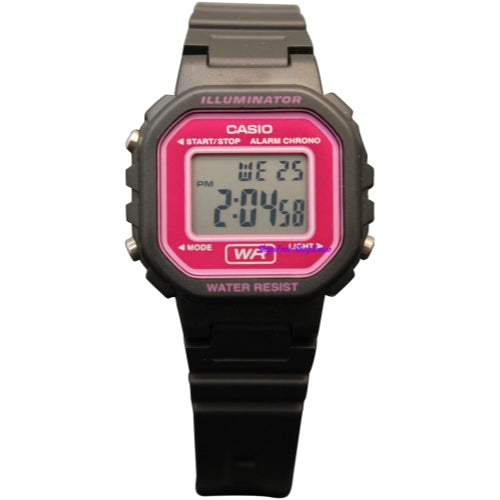 Casio Women's LA20WH-4ACF Classic Digital Black and Pink Resin Watch