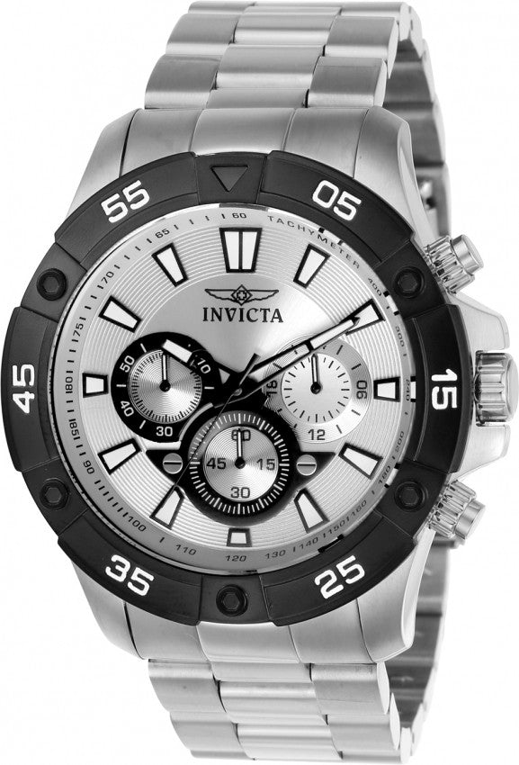 Invicta Men's Pro Diver Quartz Multifunction Silver Dial Watch 22788