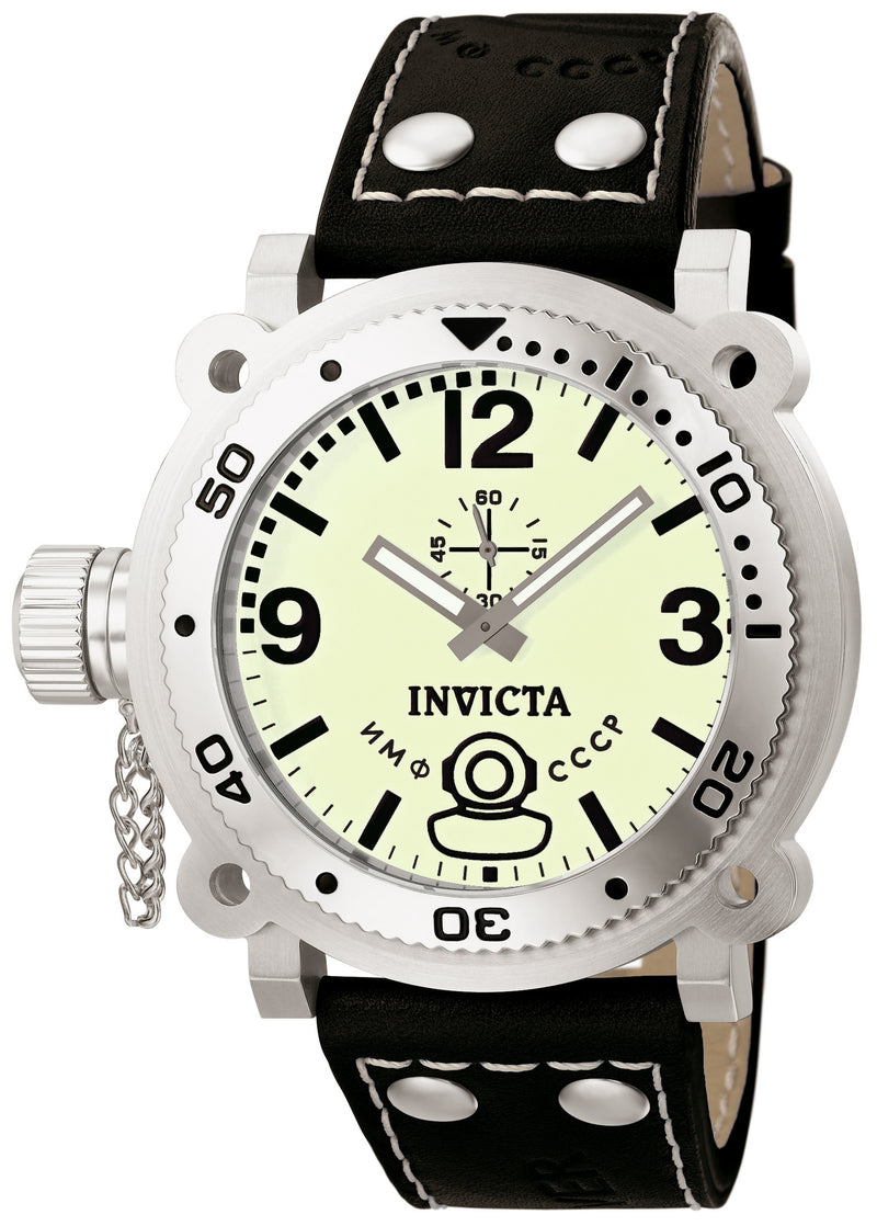 Invicta Men's Signature Lefty Chrono Stainless Steel Black Leather Watch 7273