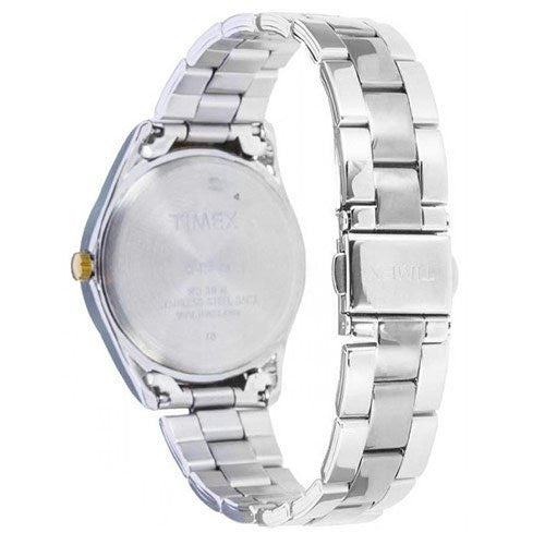 Timex Women's Analog Quartz Two Toned Stainless Steel Watch T2P188