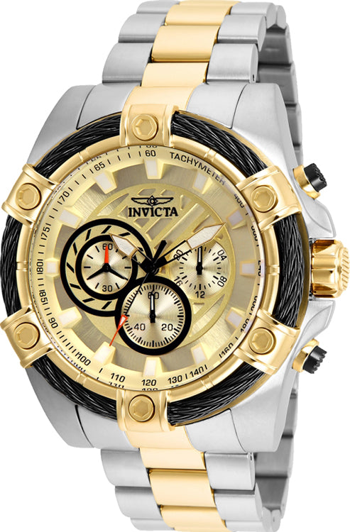 Invicta Men's Bolt Quartz Chronograph 100m Two Tone Stainless Steel Watch 25518