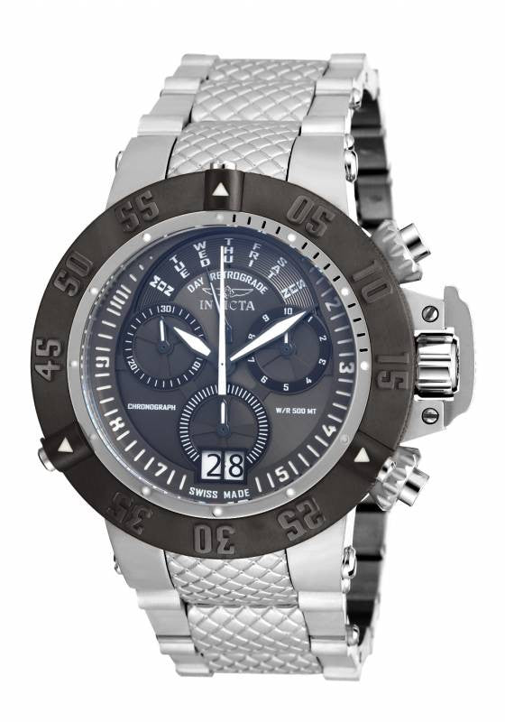 Invicta Men's Subaqua Chrono 500m Black Dial Stainless Steel Watch 17619